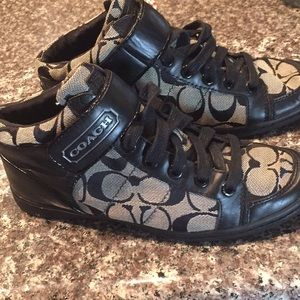 Coach mid top black / grey like New